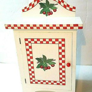 Vintage Small White Wood Kitchen Cabinet Retro